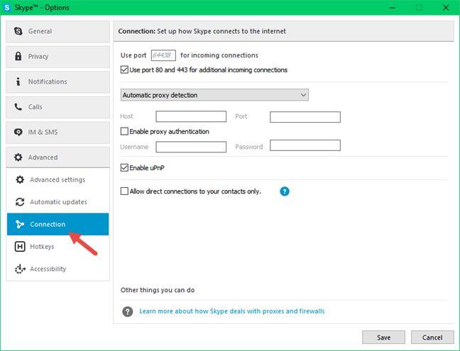 Skype, Windows, escritorio, aplicación, ocultar, dirección IP