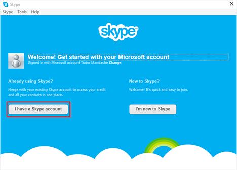 Microsoft, Skype, Windows, aplicación, cómo, enlace, cuenta, configuración