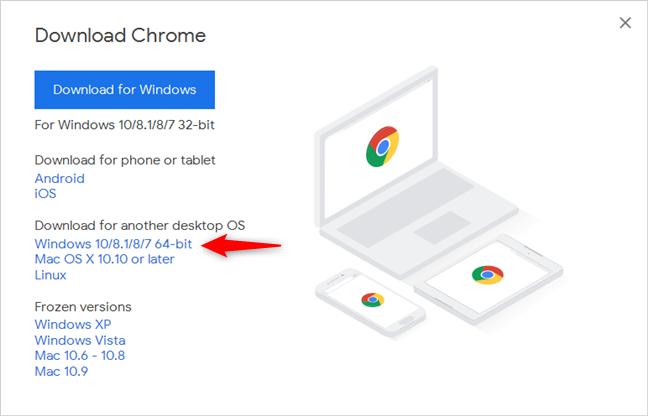 Google Chrome para Windows de 64 bits