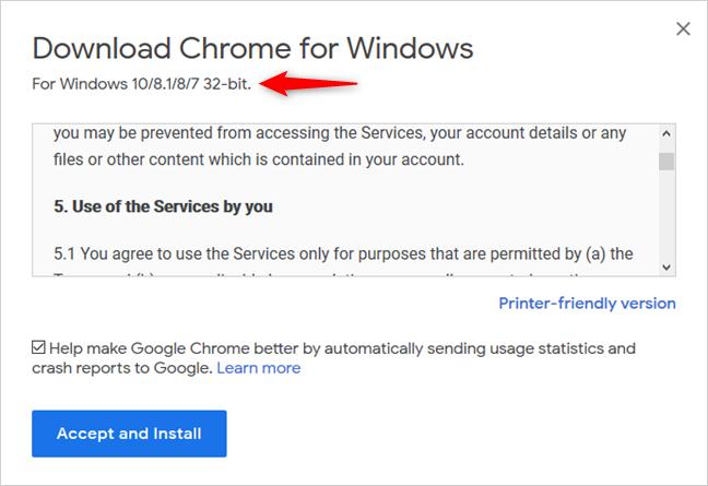 Google Chrome para sistemas Windows de 32 bits