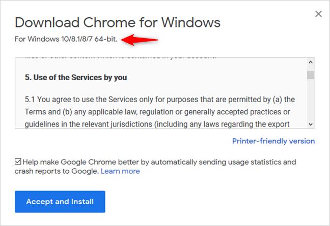 La versión de 64 bits de Google Chrome
