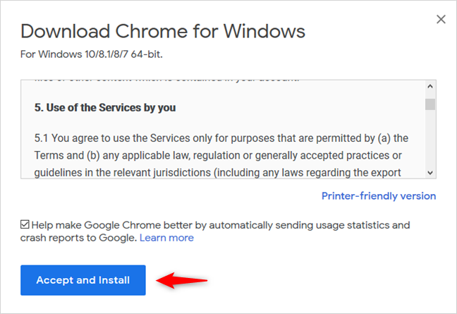 Descargando Google Chrome