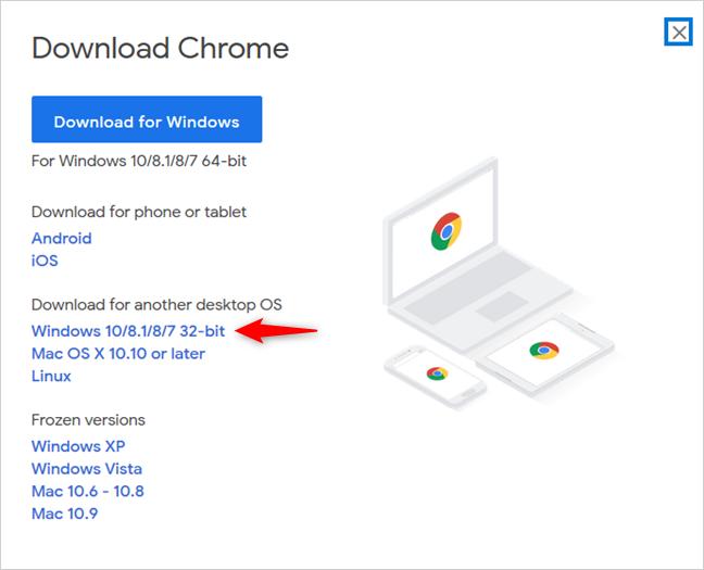 Google Chrome para Windows de 32 bits