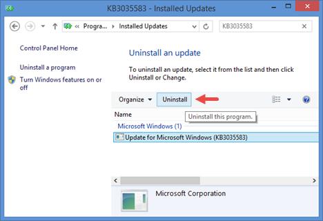 Windows 10, deshabilitar, eliminar, reservar, actualizar, aplicación, notificación