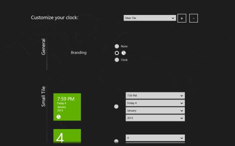 Windows 8 - Clock Live Tile - Reloj Asparion
