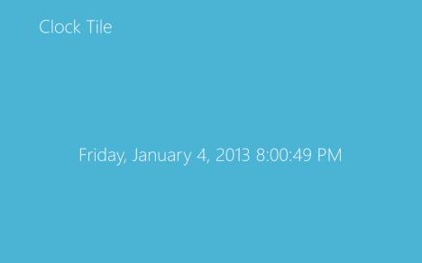 Windows 8 - Mosaico de reloj en vivo - Mosaico de reloj