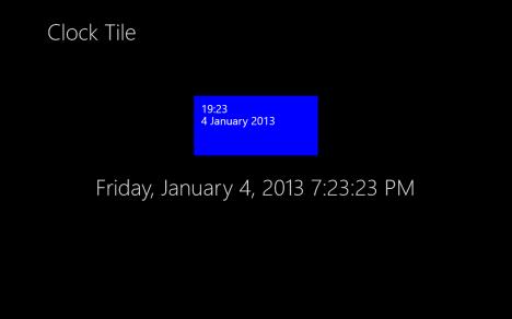 Windows 8 - Mosaico de reloj en vivo - Mosaico de tiempo simplemente avanzado