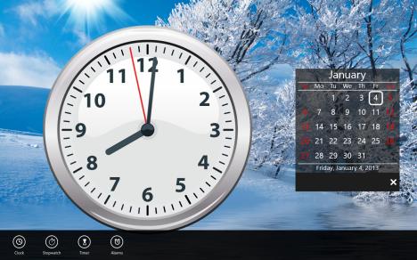 Windows 8 - Clock Live Tile - Reloj
