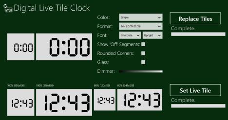Windows 8 - Clock Live Tile - Reloj digital de mosaico en vivo