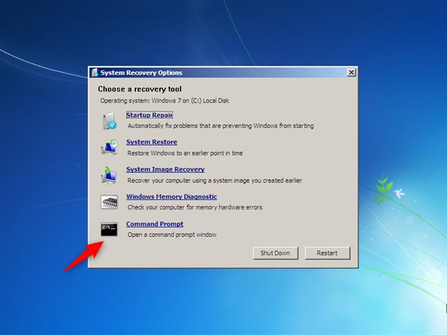Abra el símbolo del sistema mientras instala Windows 7