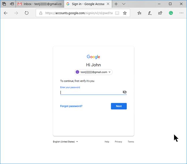 Confirme su identidad a Google