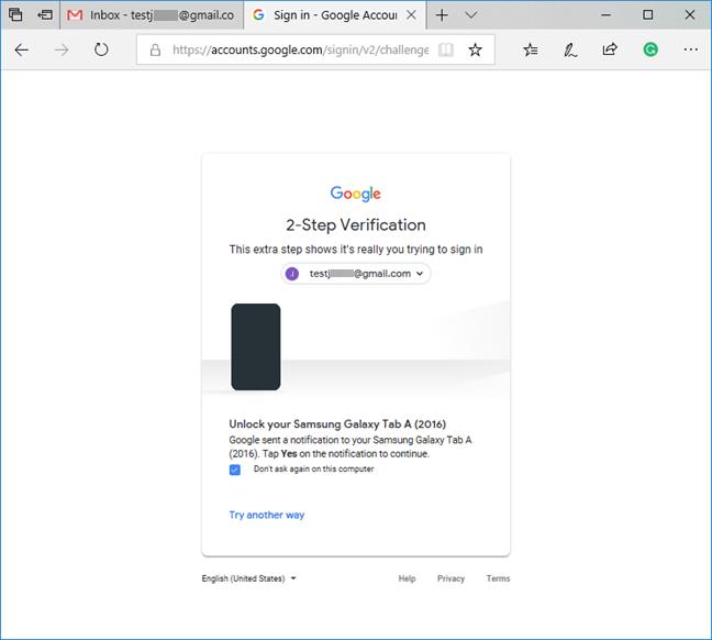 Verificación en dos pasos para su cuenta de Google