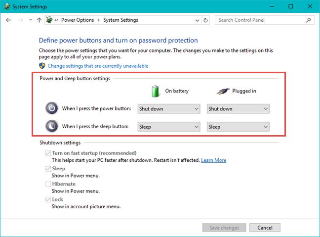 Windows, apagar, encendido, botón, acción