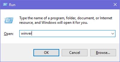 Ejecute winver para verificar la versión de Windows 10