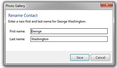 Galería fotográfica de Windows, etiquetar personas