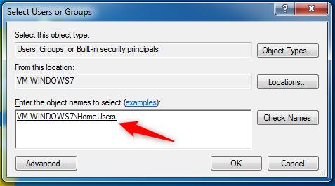 Compartir una carpeta con el Grupo Hogar en Windows 7