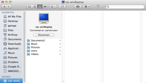 Cómo acceder a las carpetas compartidas de Windows 7 y Windows 8 desde Mac OS X
