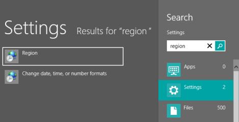 Cómo cambiar la región para las aplicaciones de Windows 8 Store y Windows 8