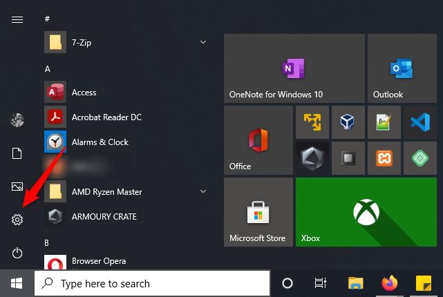 Abrir la aplicación de configuración de Windows 10