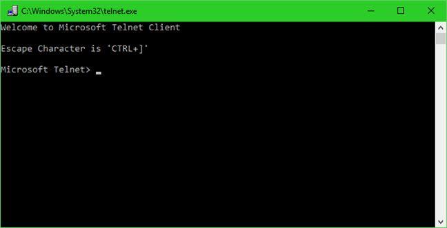 Cliente Telnet, instalar, iniciar, comandos, conectar, servidor, desconectar, Windows